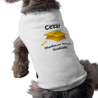 従順の学校の卒業生犬のTシャツ ペット服