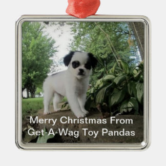 得おどけ者のおもちゃのパンダ犬のオーナメント メタルオーナメント