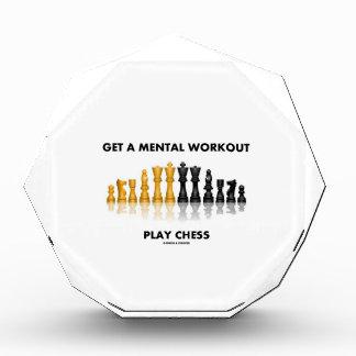 得て下さい精神トレーニングの演劇のチェス(反射チェス)を 表彰盾