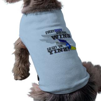 得ますそれらをのYinzの青いマラソンのデザインペットタンク行って下さい ペット服