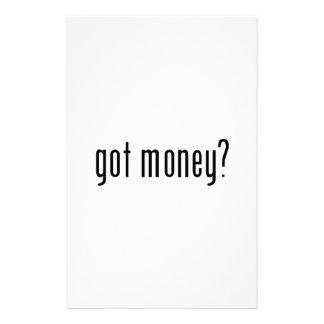 得られたお金か。 便箋