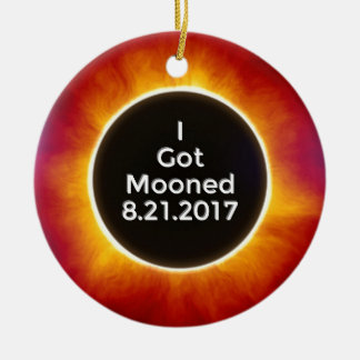 得られたアメリカの日食によっては威厳があるな21 2017.jがうろつきました セラミックオーナメント