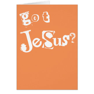 得られたイエス・キリスト カード