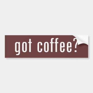 得られたコーヒーか。 バンパーステッカー