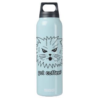 得られたコーヒーか。 怒っている子猫 断熱ウォーターボトル