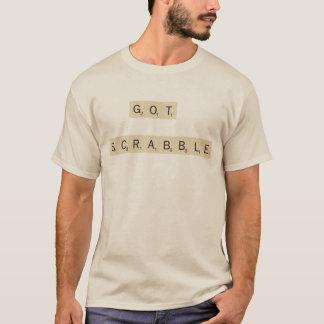 得られたスクラブル Tシャツ