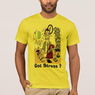 得られたストレスか。 人のアメリカの服装のTシャツ Tシャツ