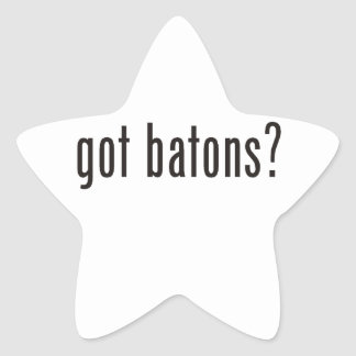 得られたバトンか。 星シール