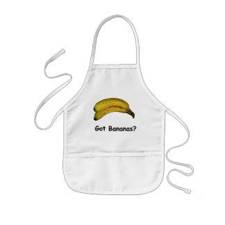 得られたバナナ 子供用エプロン