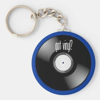 """""""得られたビニールか""""。 記録的なアルバムキーホルダーのキーホルダー ベーシック丸型缶キーホルダー"""