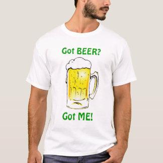 得られたビールか。 おもしろいのSt patricks dayのTシャツ Tシャツ