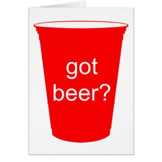得られたビールか。 カード