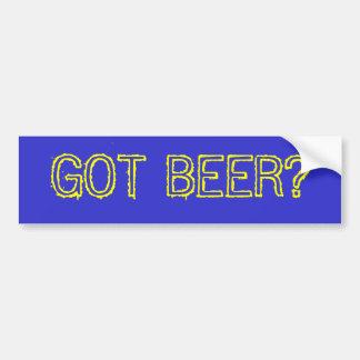 得られたビールか。 バンパーステッカー