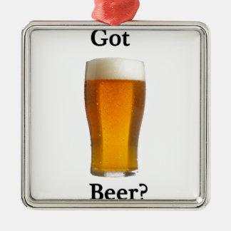 得られたビールか。 メタルオーナメント