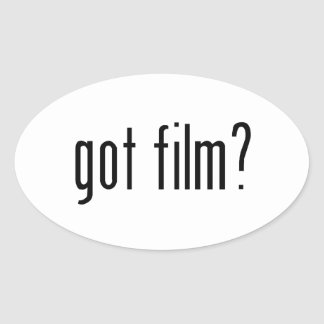 得られたフィルムか。 楕円形シール