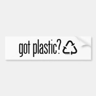 得られたプラスチックか。 印のリサイクル バンパーステッカー