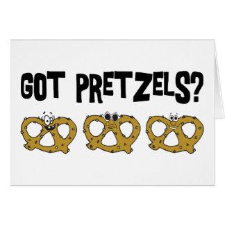 得られたプレッツェルか。 カード