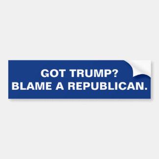 得られた切札か。 共和党員の責任にして下さい バンパーステッカー