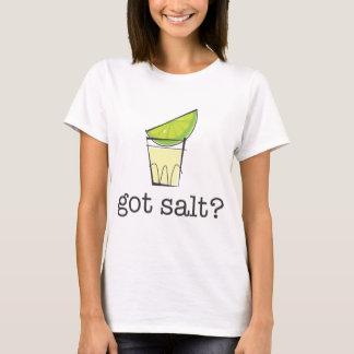 得られた塩か。 ライムが付いているテキーラの打撃 Tシャツ