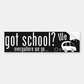 得られた学校か。 バンパーステッカー