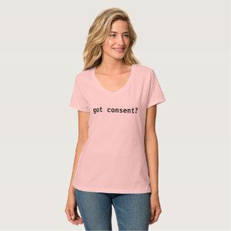得られた承諾か。 Tシャツ