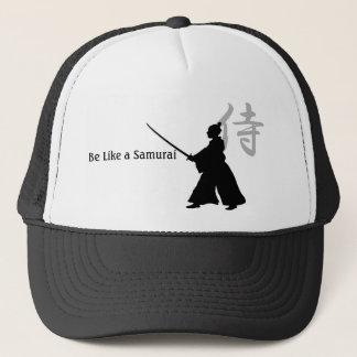 得られた武士か。 帽子