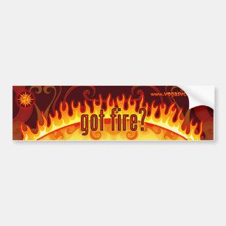 得られた火の赤のステッカー バンパーステッカー