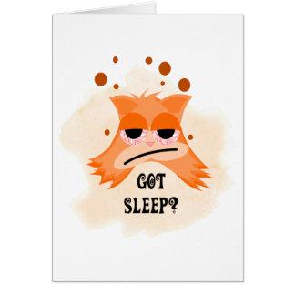 得られた睡眠か。 カード