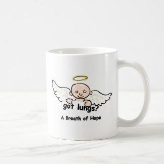 得られた肺か。 ベビーの天使のマグ コーヒーマグカップ