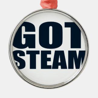 得られた蒸気の蒸気機関車 メタルオーナメント