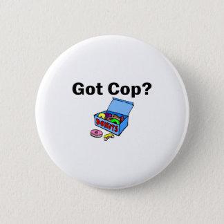 得られた警察官か。 (ドーナツ) 5.7CM 丸型バッジ