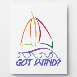 得られた風のヨット フォトプラーク