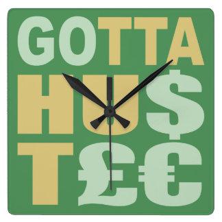 得られた/HU$T£€強いるためカスタムな柱時計 スクエア壁時計