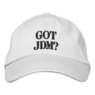 得られたJDMの帽子 刺繍入りキャップ