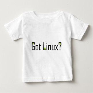 得られたLinuxか。 -黒い文字 ベビーTシャツ