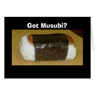 得られたMusubiか。 挨拶状 カード