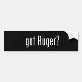 得られたRugerか。 バンパーステッカー