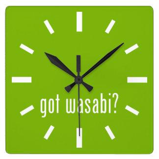 得られたwasabiか。 スクエア壁時計