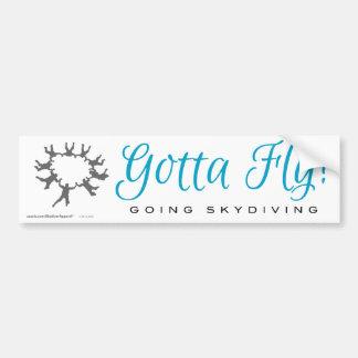 得られる飛ぶために! 行くSkydiving バンパーステッカー
