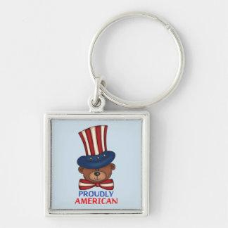 """得意気にアメリカ人"""" Keychain キーホルダー"""
