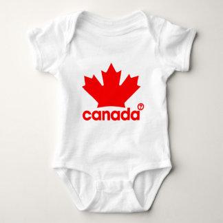 得意気にカナダ人 ベビーボディスーツ