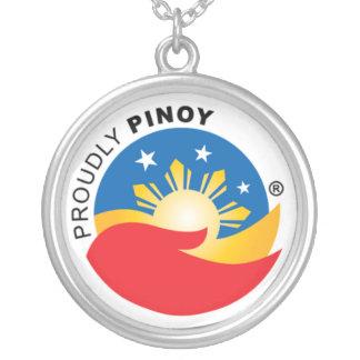 得意気にフィリピン人の役人のペンダント シルバープレートネックレス