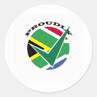 得意気に南アフリカ ラウンドシール