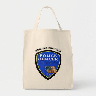 得意気に役立っている警察 トートバッグ