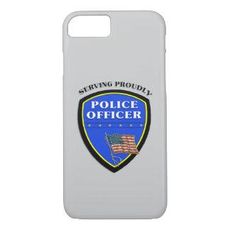 得意気に役立っている警察 iPhone 8/7ケース