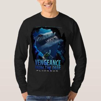 復讐- Pliosaurの黒い長袖のTシャツ Tシャツ