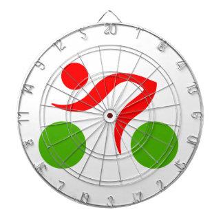 循環のクールなロゴ ダーツボード
