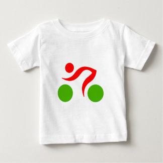 循環のクールなロゴ ベビーTシャツ