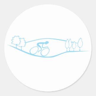 循環のデザインのステッカー ラウンドシール