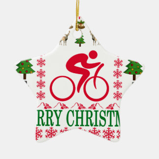 循環のメリークリスマス。 セラミックオーナメント